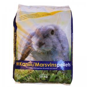 Kanin/Marsvin Pellets 15kg