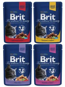 Brit Premium Pouches (Mörkblå) Familjeförp 12-pack