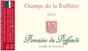 Domaine du Deffends – Champs de la Truffière, 2016 (rött)