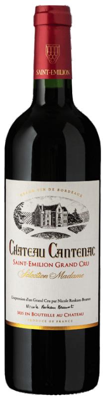 """Château Cantenac - St Emilion Grand Cru """"Sélection Madame"""" 2018 (rött)"""