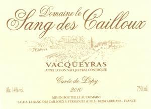 Le Sang des Cailloux - Cuvée Lopy 2016 (rött)