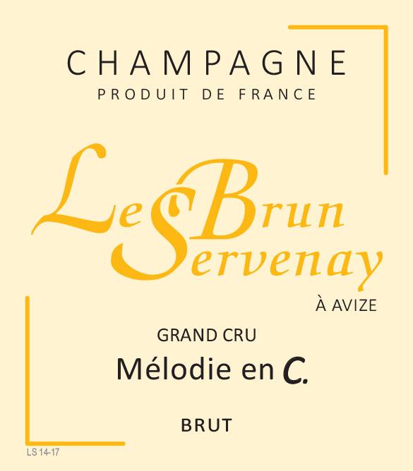 "Le Brun-Servenay - Cuvée ""Mélodie en C"" Blanc de blancs Grand Cru Brut HALV-FLASKA"