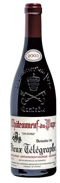 """Domaine Vieux Télégraphe - Châteauneuf du Pape """"La Crau"""" Rouge 2007 (rött)"""