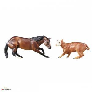 BREYER CUTTING HORSE & CALF