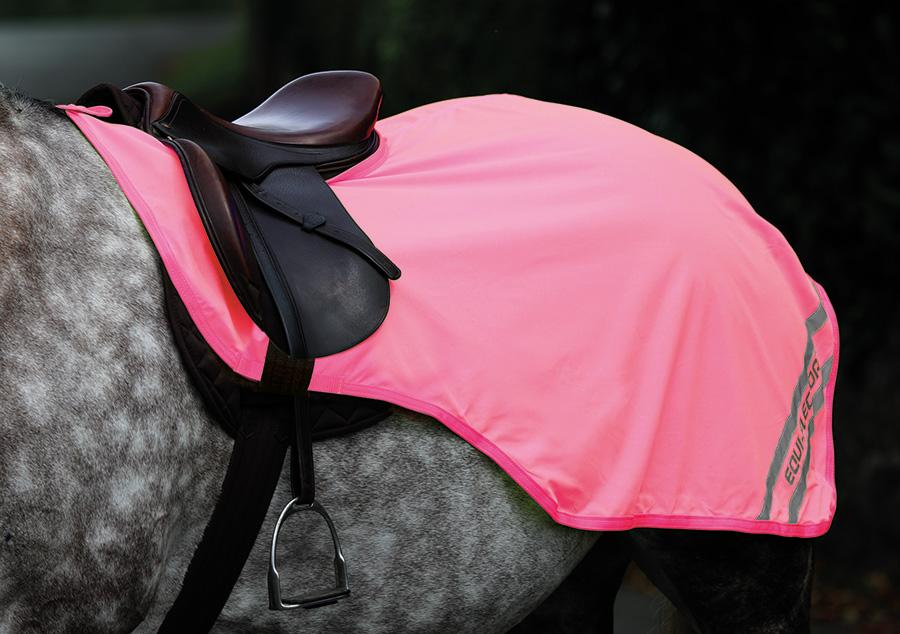 rosa reflexer häst