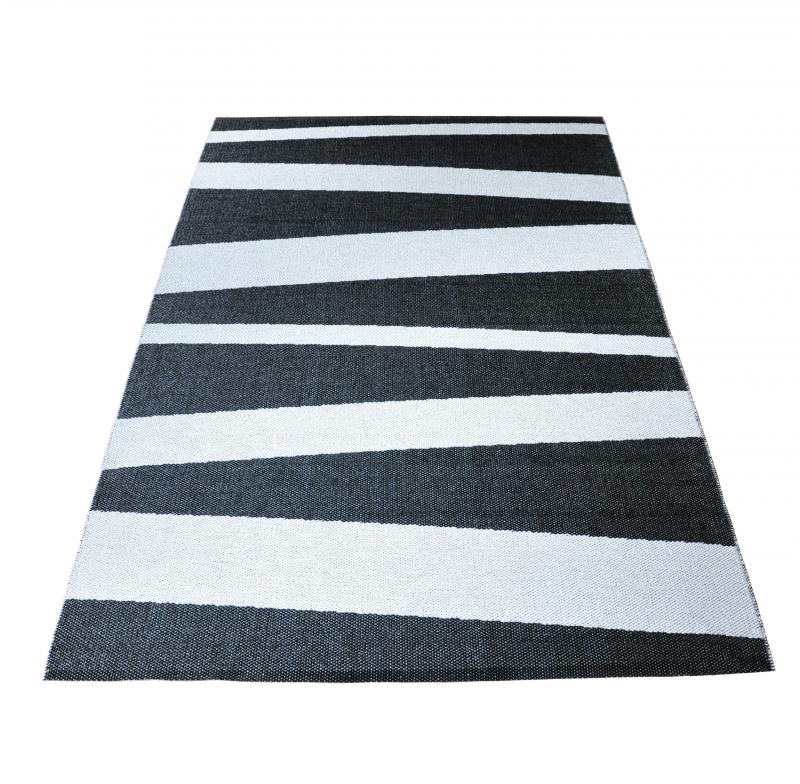 Åre carpet black / white 140x220 cm