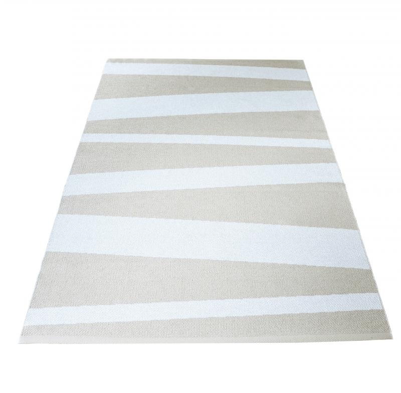 Åre carpet beige / white 140x220 cm