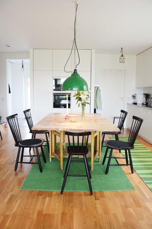 Flip stor grön/mörkgrön matta 150x220 cm