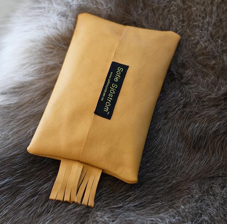 Mini Bag i läder, sandfärgad