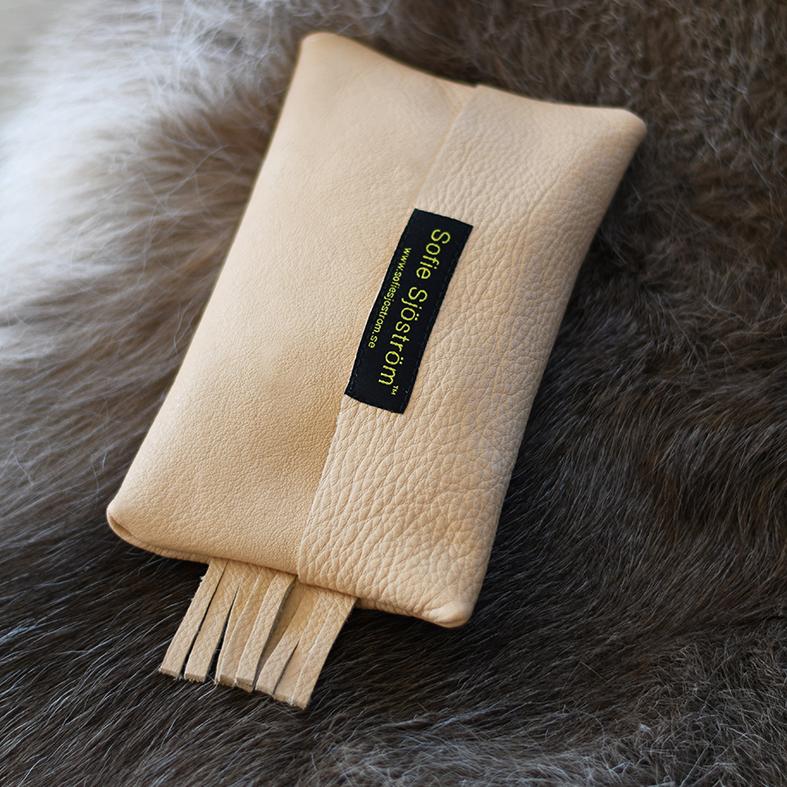 Mini Bag i äggskalsfärgat läder