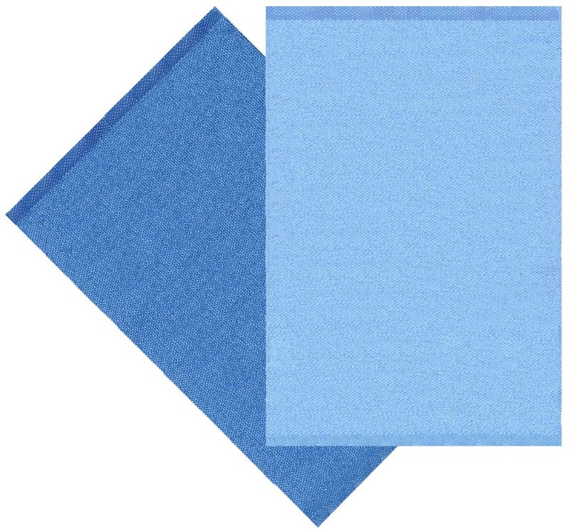 Flip rug, light blue / blue 70x100 cm