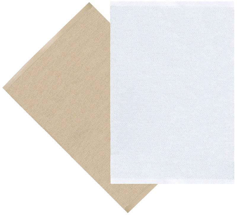 Flip matta beige/vit 70x100 cm