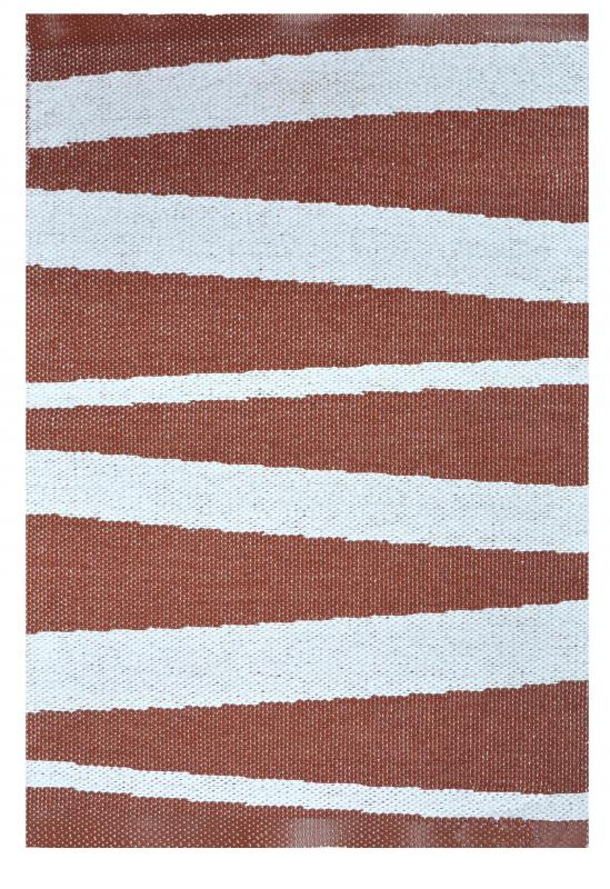 Åre carpet chocolate / white 70x100 cm