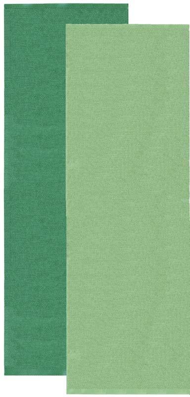 Flip rug, green/dark green, 70x200 cm