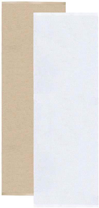 Flip matta beige/vit 70x200 cm