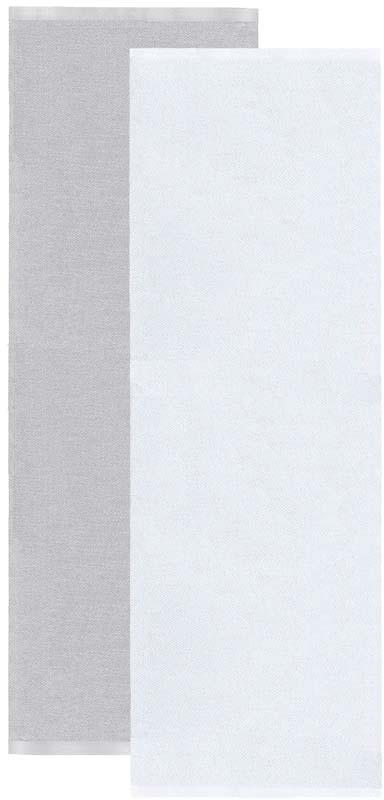 Flip matta grå/vit 70x200 cm