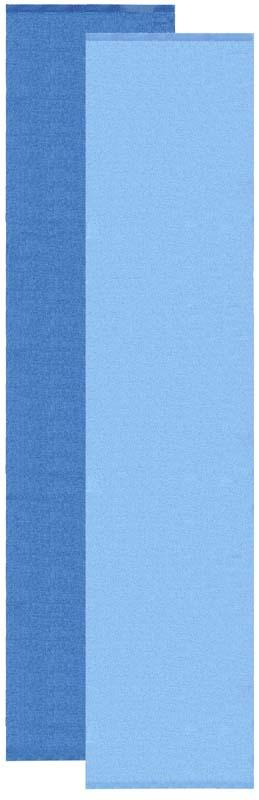 Flip rug, blue / light blue 70x300 cm