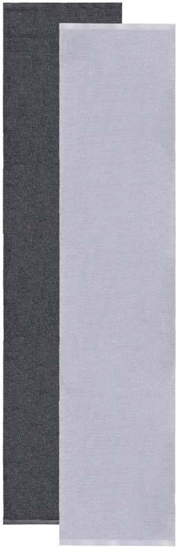 Flip rug, grey/black 70x300 cm