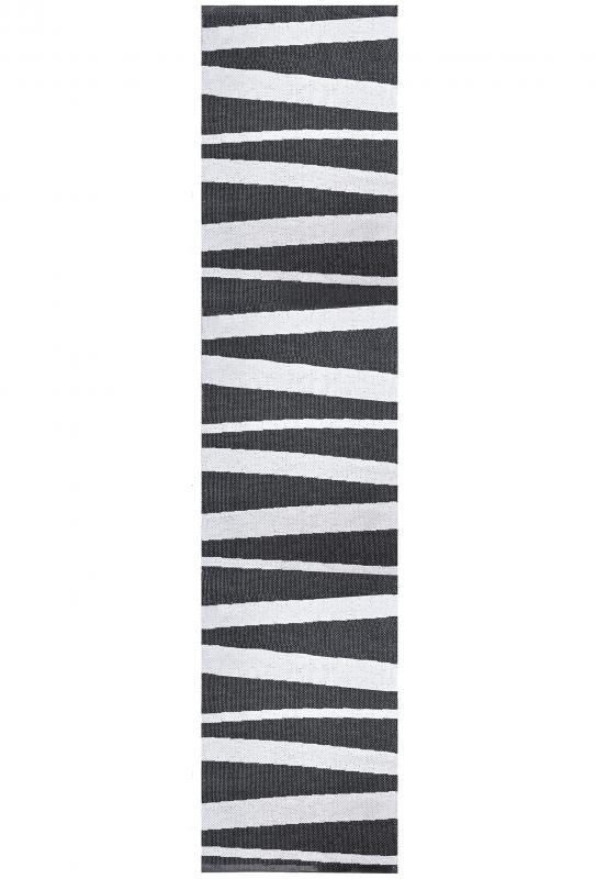 Åre carpet black / white 70x300 cm