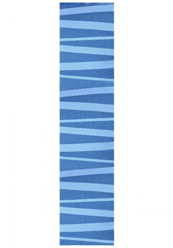 Åre carpet blue / light blue 70x300 cm