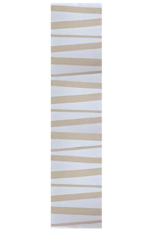 Åre carpet beige / white 70x300 cm