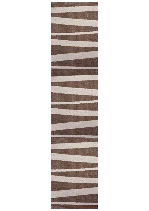 Åre carpet brown / beige 70x300 cm