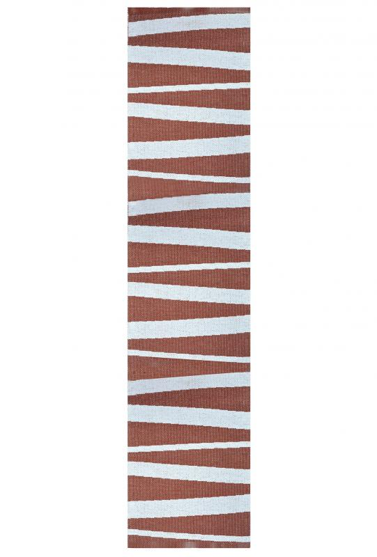 Åre carpet chocolate / white 70x300 cm