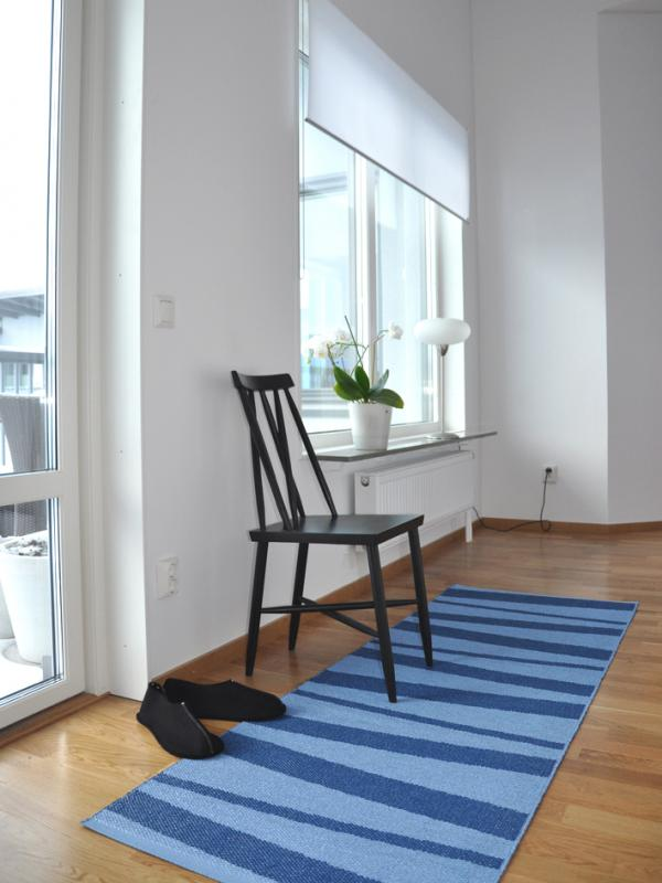 Åre carpet blue / light blue 70x200 cm