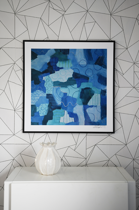 Signed Poster Blue Heaven, 50 x 50 cm