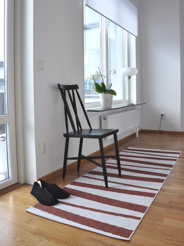 Åre carpet chocolate / white 70x200 cm