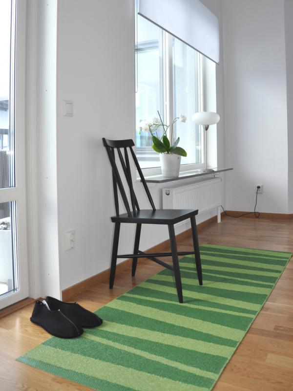 Åre carpet green / dark green 70x200 cm
