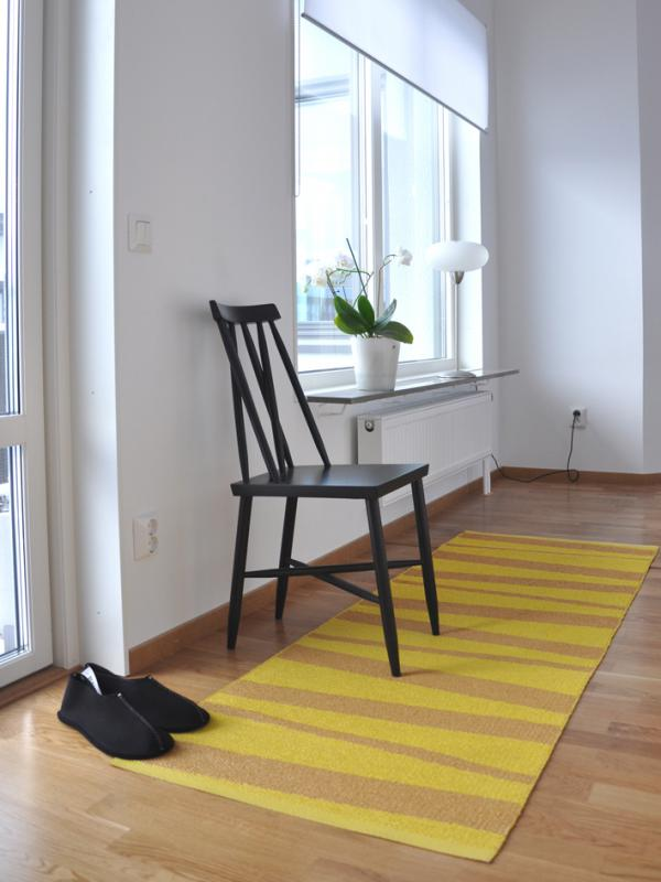 Åre carpet yellow / ocher 70x200 cm