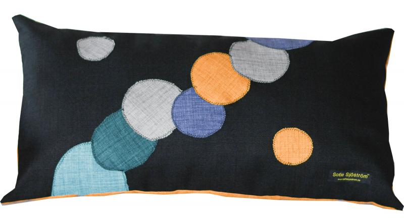 Dots padded pillow Multi color 65x35 cm