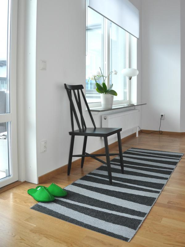 Åre carpet black / grey 70x200 cm