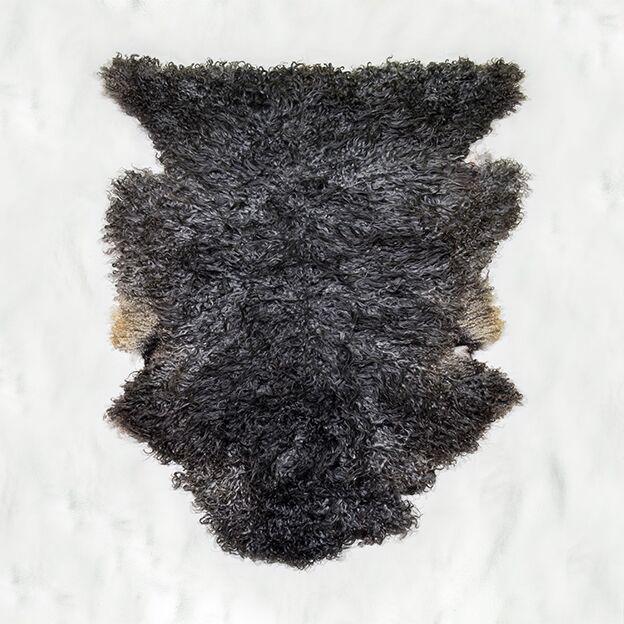 Nr. 009 Grått lammskinn storlock oklippt från Smedstad fårgård.