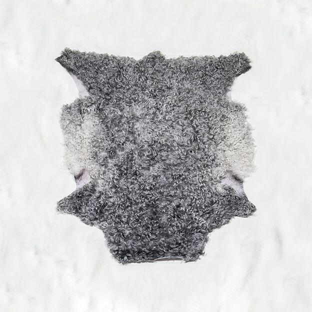 Nr. 012 Ljusgrått lammskinn med silvriga stora lockar från Smedstad fårgård.