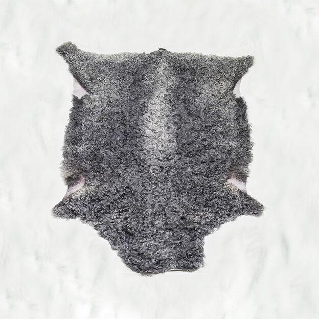 Nr. 016 Grått lammskinn ljusare på ryggen, mellanlock från Smedstad Fårgård.