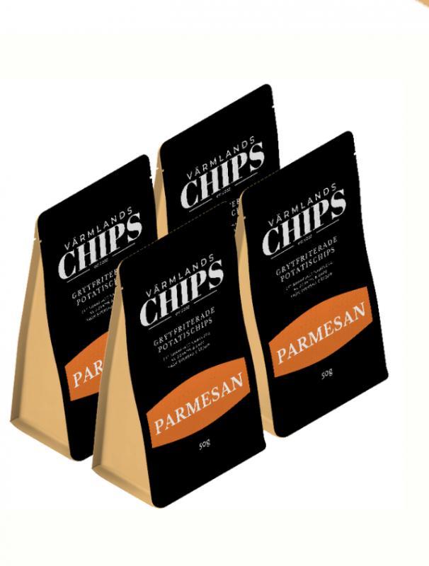 Värmlandschips 4 pack Parmesan 50 g/st