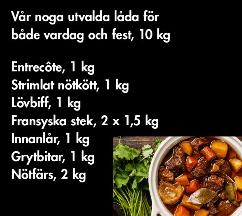 Nöt - ca 10 kg NILSSONS LÅDA