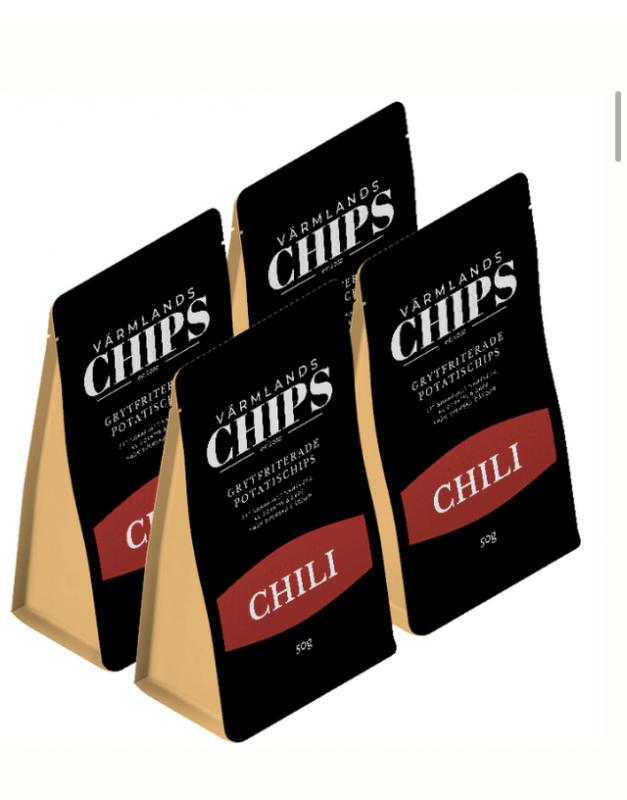 Värmlandschips 4 pack Chili 50 g/st