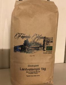 Ekologiskt siktat Lantvetemjöl 1 kg - Fagerås kvarn