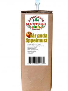 Äppelmust 3 L  - bag in box - Enbackens musteri