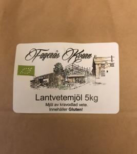 Ekologiskt siktat Lantvetemjöl 5 kg - Fagerås kvarn