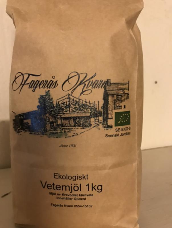 Ekologiskt siktat vetemjöl 1 kg - Fagerås kvarn