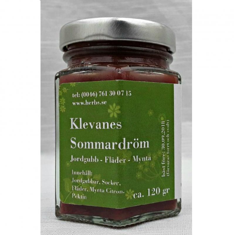 Sommardröm - Delikatess Sylt/Marmelad baserad på Rabarber, Jordgubbar, Ekoodlad Fruktsalvia