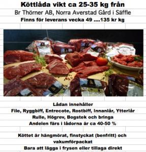 Nöt köttlåda Br Thörner AB, Norra Averstads Gård Säffle