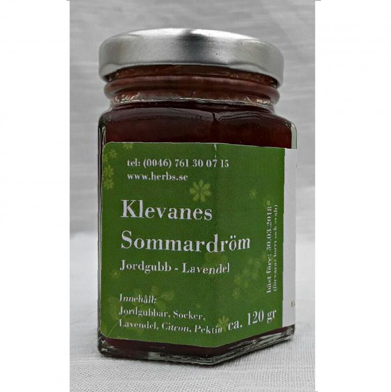 Sommardröm - Delikatess Sylt/Marmelad baserad på Jordgubbar, Ekoodlad Lavendelblom