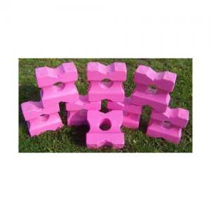 Cavaletti block små Rosa / Vita 2-pack
