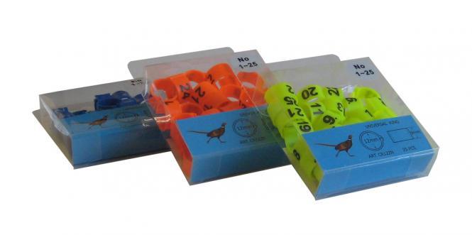 Hönsringar numrerade 1-25  25pack