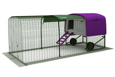 Eglu Cube med 3 meters utegård inkl väderskydd (1m förlängd)